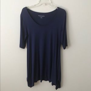 Soft Surroundings Blue Tunic with High-Low Hem
